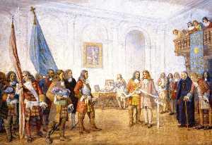 Frontenac Receiving Sir William Philip's Envoy