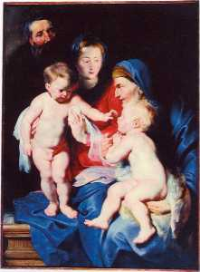 Holy Family with St Elizabeth and St John the Baptist