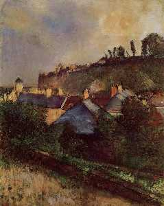 Houses at the Foot of a Cliff (also known as Saint-Valery-sur-Somme)
