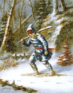 Hunter in a Blizzard