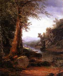 Hunters on a Riverbank