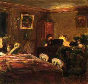 Interior - Claude Terrasse at the Piano
