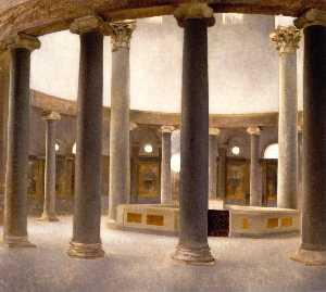 Interior of the Church of Santo Rotondo in Rome