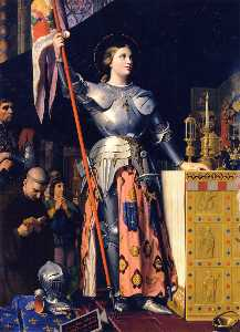 Joan of Arc at the Coronation of Charles VII in the Cathedral of Rheims