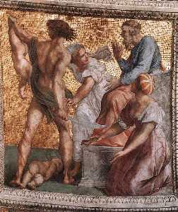 The Judgment of Solomon (ceiling panel) (Stanza della Segnatura)