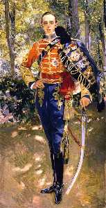 The King Alfonso XIII in a Hussar's Uniform