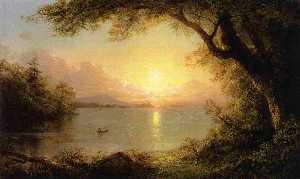 Lake Scene (also known as Landscape in the Adirondacks)