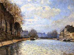 The Saint Martin Canal in Paris