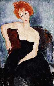 Red-headed Girl in Evening Dress