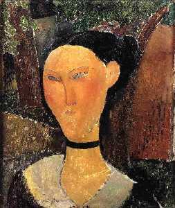 Woman with Velvet Ribbon (The Black Border)