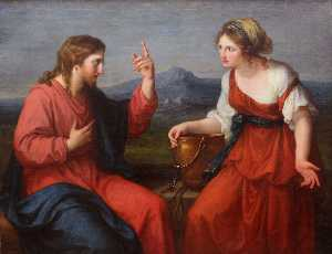 Christ and the Samaritan woman at the well