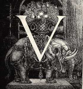 Initial Letter 'V' to Volpone