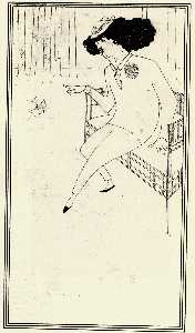Caricature of James McNeill Whistler