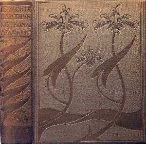 Front Cover and spine of Le Morte Darthur