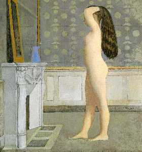 Figure in Front of a Mantel