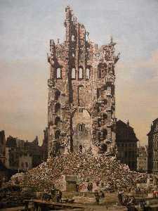 Ruins of Dresden's Kreuzkirche