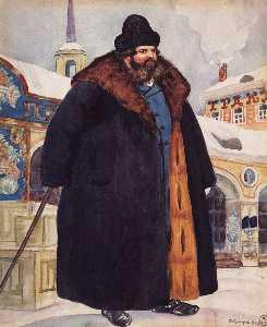 A merchant in a fur coat