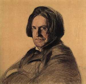 Portrait of a singer I.V. Ershov