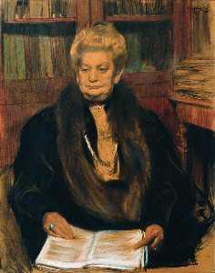 Portrait of a writer Alexandra Vasilevny Schwartz