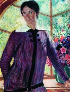 Portrait of Y.E. Kustodieva
