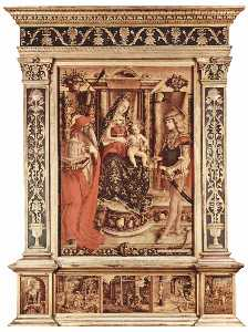 Enthroned Madonna, St. Jerome and St. Sebastian