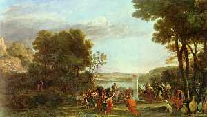 Landscape with the Adoration of the Golden Calf