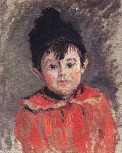Porträt von Michael mit Hut und Pom Pom