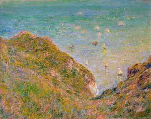 View from the Cliff at Pourville, Bright Weather