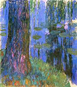 Weeping Willow and Water-Lily Pond