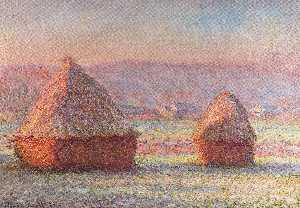 Haystacks - White Frost, Sunrise