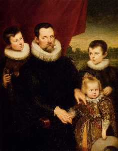 Portrait of a Nobleman and Three Children