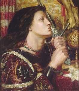 Joan of Arc Kisses the Sword of Liberation