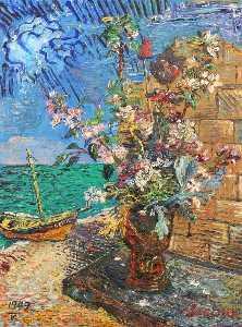 Flowers near the sea