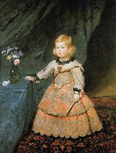 The Infanta Margarita Teresa of Spain in a Red Dress