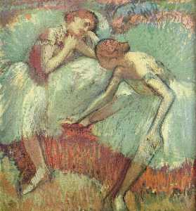 Two Dancers at Rest (Dancers in Blue)