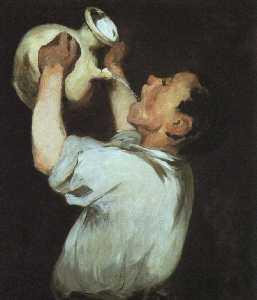 A boy with a pitcher