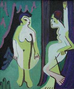 Naked Women on Meadow