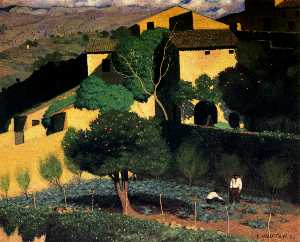 Landscape in Cagnes