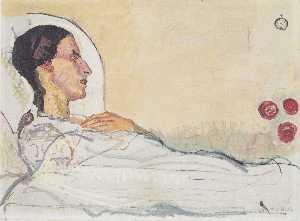 Valentine Gode Darel in hospital bed