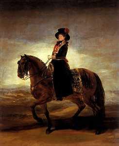 Equestrian portrait of Maria Luisa of Parma
