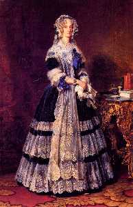 Portrait of the Queen Marie Amelie of France