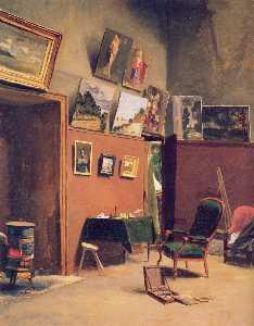 Studio in the rue de Furstenberg