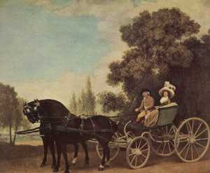 Lord and Lady in a Phaeton