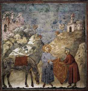 St. Francis Giving his Mantle to a Poor Man