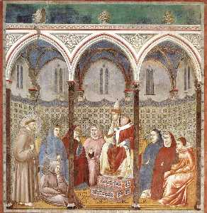 St. Francis Preaching a Sermon to Pope Honorius III