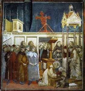 St. Francis of Assisi Preparing the Christmas Crib at Grecchio