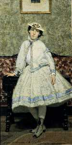 Portrait of Alaide Banti in White Dress