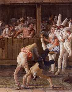 Pulcinella with Acrobats