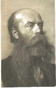 Portrait of a man with beard in three quarter profil