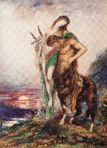 Dead poet borne by centaur
